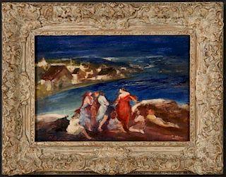 HILDE B. KAYN (1903-1950) OIL ON BOARD