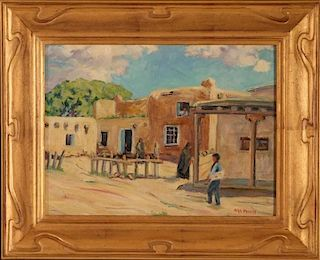 NAN SHEETS (1885-1976) 'POST OFFICE RANCHOS DE TAOS'