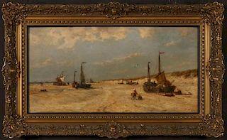 FRANÇOIS ETIENNE MUSIN (BELGIUM 1820-1888) OIL/PANEL
