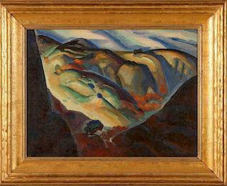 LEONARD PHELPS GOOD (1907-2000) OIL ON CANVAS BOARD