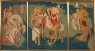 DANIEL MacMORRIS (1893-1981) 1934 ART DECO INFLUENCE MURAL