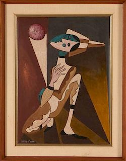 JOSE MARIA DE SERVIN (1917-1983) OIL ON BOARD