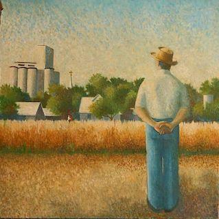 ROBERT WALKER (KANSAS 1920-1990) OIL ON CANVAS
