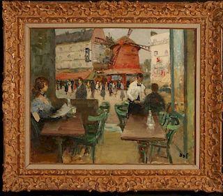 MARCEL DYF (1899 - 1985) OIL ON CANVAS PARIS CAFE SCENE
