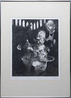 Jack Levine, (American, 1915-2010), Homage to George Grosz