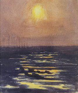 Thomas Anshutz Watercolor Study of Coast