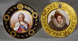 Two Royal portrait Plates