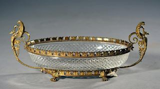 French Bronze and Crystal Centerpiece