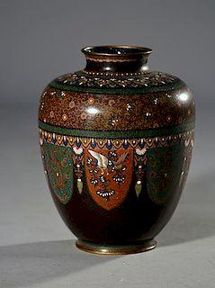Japanese Meiji Period Cloisonnホ Vase