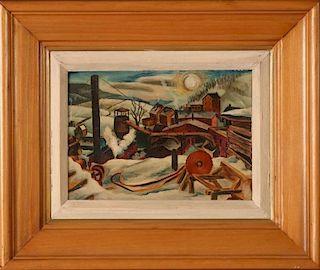 FRANCIS PEABODY COLBURN (1909-1984) OIL ON PANEL