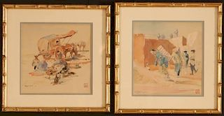 LOWELL LEROY BALCOM (1887-1938) WATERCOLORS ON PAPER