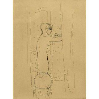 Etching Attrib Pierre Bonnard
