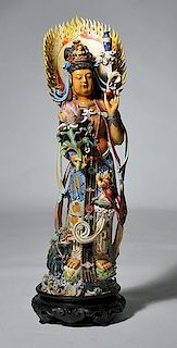 Eceptional Late 19th C. Chinese Goddess Carving