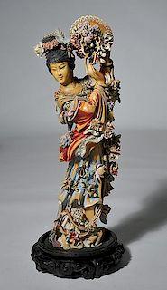Fine Late 19th C. Chinese Goddess