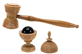 Ball Vase and Hammer.