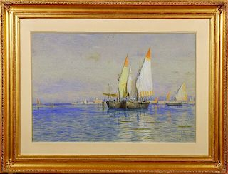 William Stanley Haseltine (1835-1900), Fishing Boats, Venice