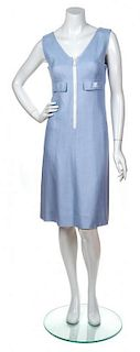 A Courreges Blue Dress, Size B.