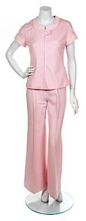 A Courreges Pink Pant Ensemble, Size A.