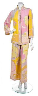 An Emilio Pucci Pink Ensemble, Both Size 10.