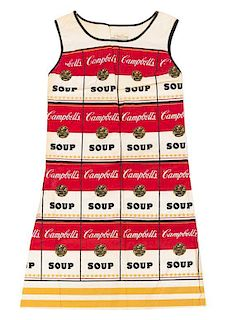 "* An After Andy Warhol Souper Dress, 36.5"" x 21.5""."