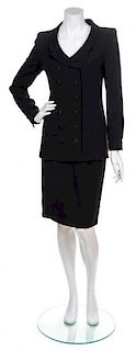 A Chanel Black Skirt Suit, Both Size 38.