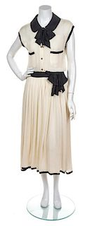 A Chanel Cream Dress, Dress Size 36. Slip Size 40.