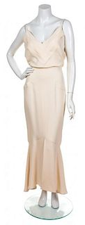 A Chanel Cream Gown, Size 40.