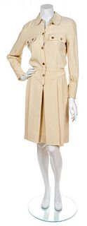 A Chanel Cream Shirtdress, Size 34.