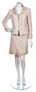 A Chanel Pink Funfetti Skirt Suit, Size 40.