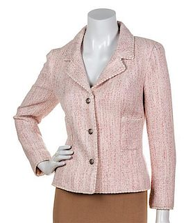 A Chanel Pink Jacket, Size 40.