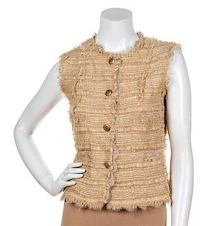 A Chanel Tan Vest, Size 38.