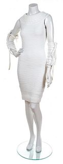 A Chanel White Sleeveless Dress, Size 38.