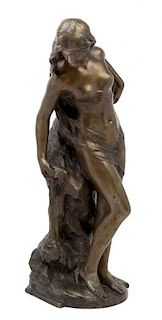 * Mathurin Moreau, (French, 1822-1912), Baigneuse au rocher