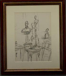 Alberto Giacometti  (1901 - 1966)  Lithograph
