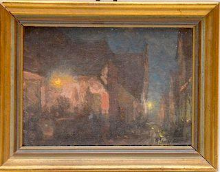 Alson Skinner Clark  (1876-1949) Painting Chicago City Night