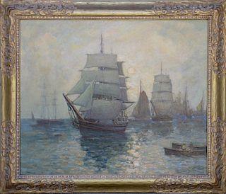 Paul Bernard King  (1867-1947) Ships Painting