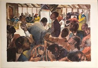 Henry Gasser  (1909-1981) African American Painting