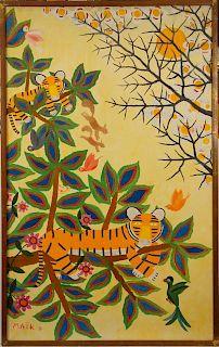 Henri Maik (French 1922 – 1993) Large Painting