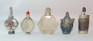 Five Mongolian Snuff Bottles