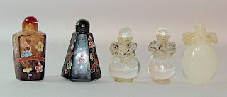 Grouping of Five Snuff Bottles
