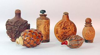 Assembled Grouping of Six Snuff Bottles