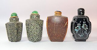 Assembled Grouping of Four Snuff Bottles