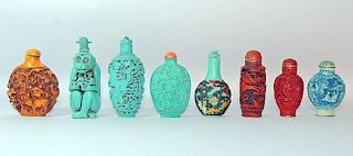 Assembled Grouping of Eight Snuff Bottles