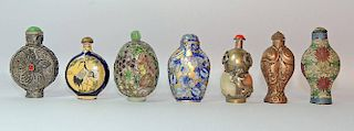 Grouping of Seven Snuff Bottles
