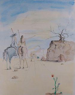 "Salvador Dali ""Amazon Women on Horses"" Etching"