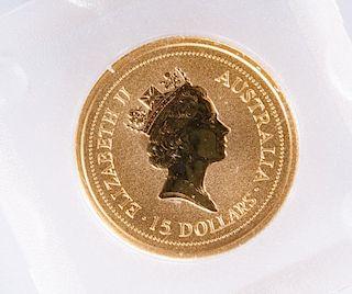 $15 Australia Gold Coin