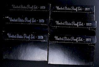 U.S. Mint Coin Proof Sets, 1977 & 1979, Set of Six