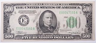 Antique U.S. $500 Bill