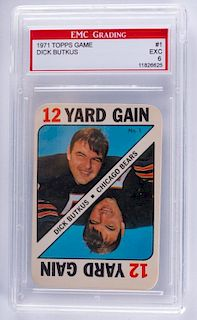 1971 Topps Game Dick Butkus Football Card (Graded)