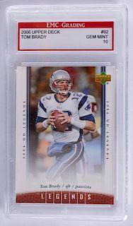 2006 Upper Deck Tom Brady Football Card (Graded)